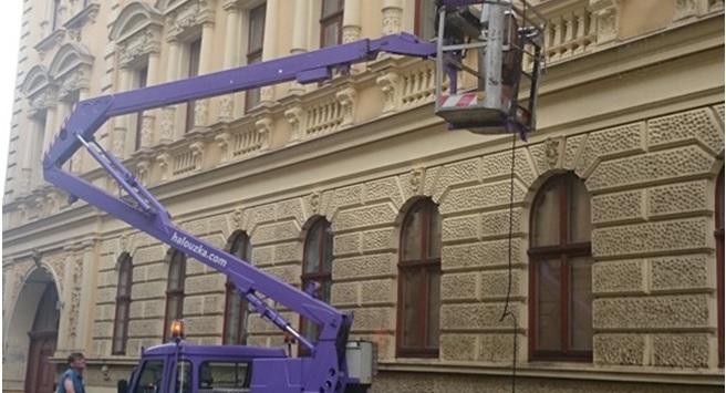 Fassadenreinigung in den Höhen