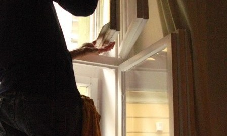 Schaufenster, Fenster, Putzen, auch in der Höhe Wien